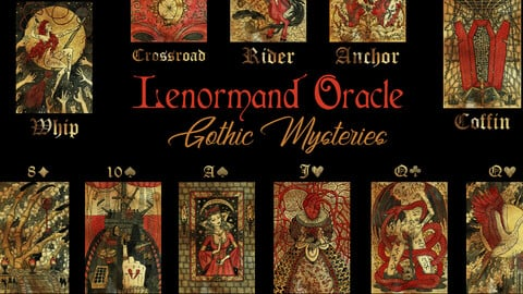 Gothic Mysteries Lenormand Oracle, colorful edition