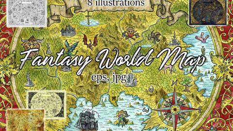 Fantasy Atlas Map