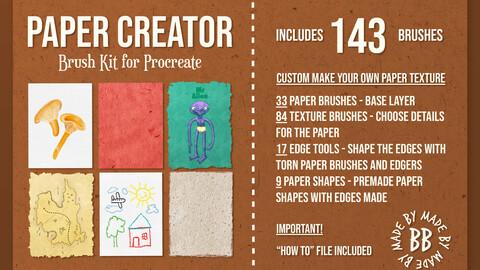 Procreate Paper Texture Creator 143 Brushes