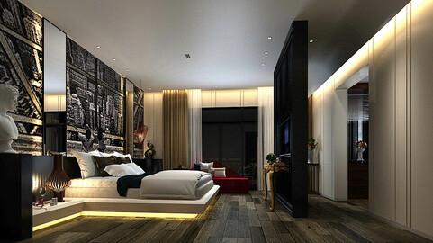 Deluxe master bedroom design  09
