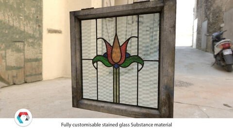 Stained Glass Substance Material