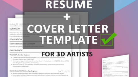Ultimate Resume and Cover Letter Template for 3D Artists