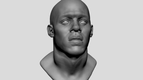 African Male Head 02