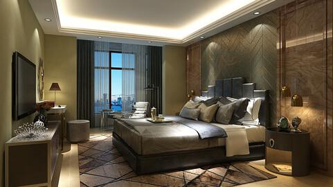 Deluxe master bedroom design  54