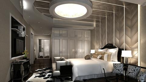 Deluxe master bedroom design  61