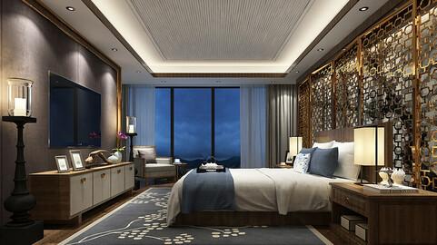Deluxe master bedroom design  62