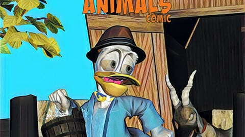 Read and Colour: Cartoon Animals - High Res ebook/print files