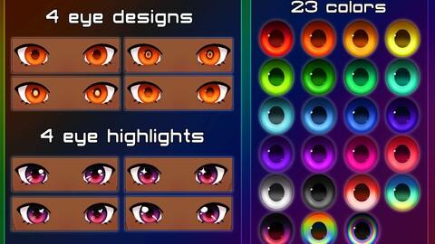 Rainbow Eyeset [Vroid]