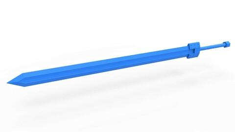 Cosplay 3D printable Golden age sword from the manga Berserk
