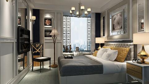 Deluxe master bedroom design  66
