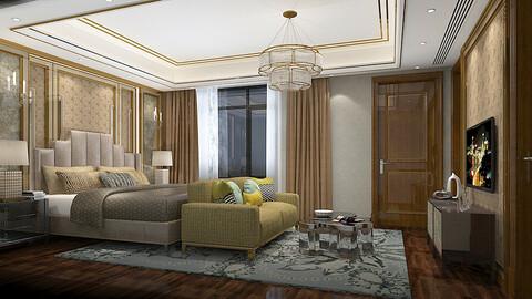 Deluxe master bedroom design  82