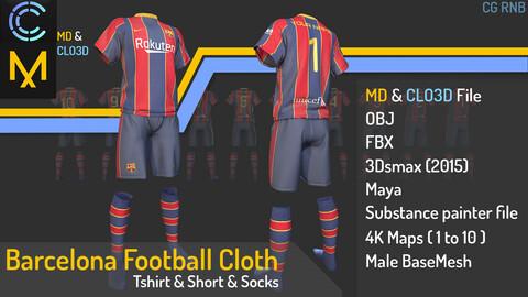 Barcelona Football Cloth