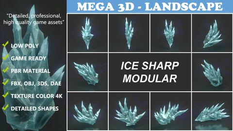 Low poly Sharp Ice Modular 210916