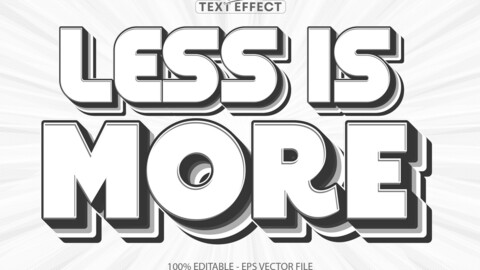 Less is more text, minimalistic text style and editable text effect
