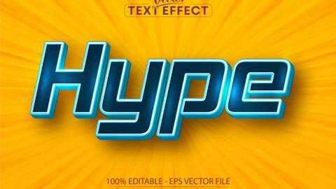 Hype text, minimalistic style editable text effect