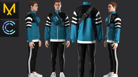 New concept Marvelous Clo3D Outfit Adidas Male OBJ mtl FBX