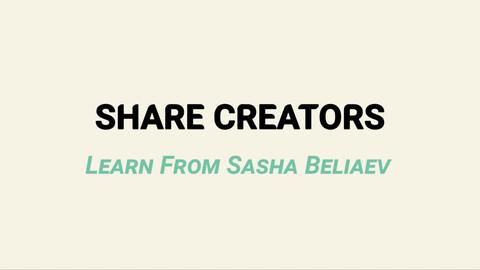 Share Creators Learn From Sasha Beliaev - Class Three: Photorealistic Rendering Convention