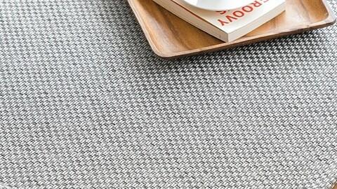 Solid sisal look rattan rug carpet