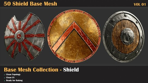 50 Shield Base Mesh - VOL 01