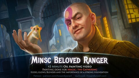 Minsc and Boo - Painting a Magic: the Gathering Card