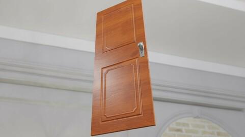 Wooden Door - Porta de Madeira Low-poly 3D model