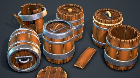 Stylized Barrel-Modular-Destroyable