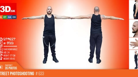T-POSE & DETAILS | Male Photo References #833