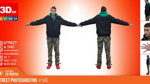 T-POSE & DETAILS | Male Photo References #540