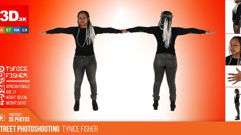 T-POSE & DETAILS | Female Photo References Tynice Fisher