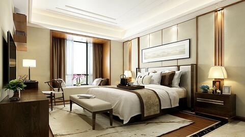 Deluxe master bedroom design  174