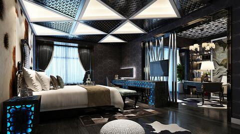 Deluxe master bedroom design  176