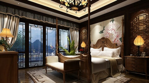 Deluxe master bedroom design  178
