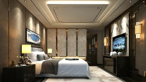 Deluxe master bedroom design  184