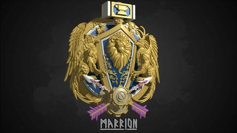 Alliance Crest Warcraft 3d Print ready