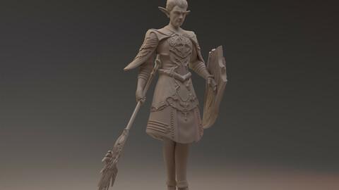 Dark Elf Lineage 3d printable fun model