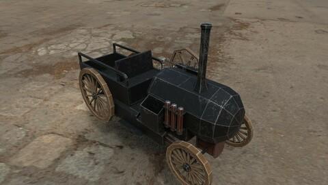 Lowpoly Steam Car