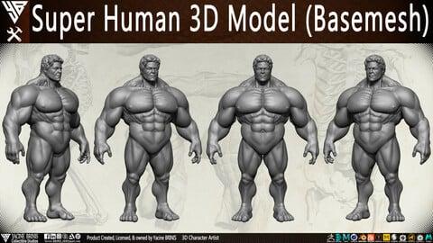 Super Human 3D Model (BaseMesh)