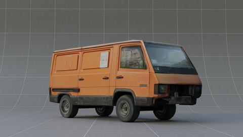 Orange Car | LowPoly model