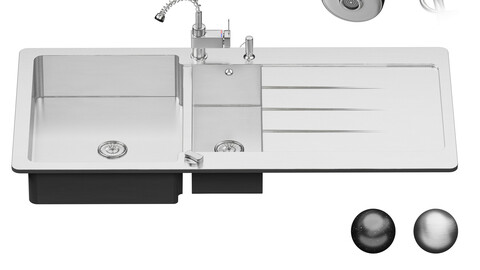 Double Bowl And Single Kitchen Sink-Lavello Sinks
