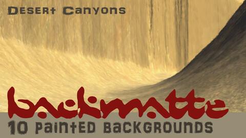 BackMatte Volume 1 - Desert Canyons