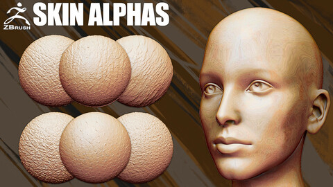 Skin Alphas for ZBrush (PSD, PNG, BMP)