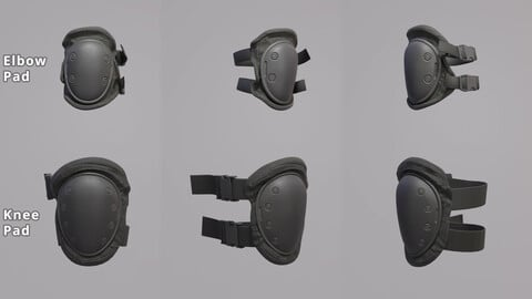 Knee Pad and Elbow Pad - PBR Game Ready