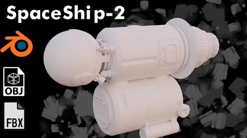 Spaceship model-2 | FBX, Blend file