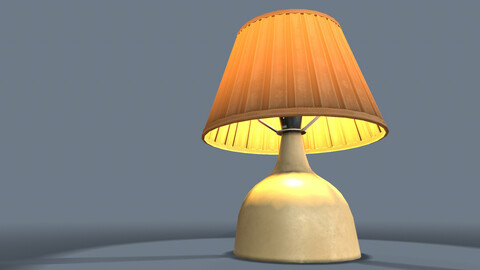 Bedroom Lamp Clutter (PBR Game Ready)