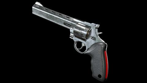 Taurus Revolver 44 Remington Magnum Low-poly 3D model
