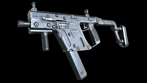 Kriss Vector SMG PBR Worn Low-poly 3D model