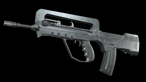 Famas G2 PBR Worn Low-poly 3D model