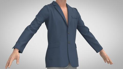 Single Breasted Jacket, Marvelous Designer, Clo3D, +.obj