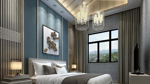 Stylish bedroom complete 89