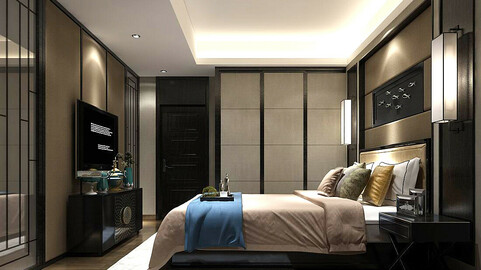 Stylish bedroom complete 97